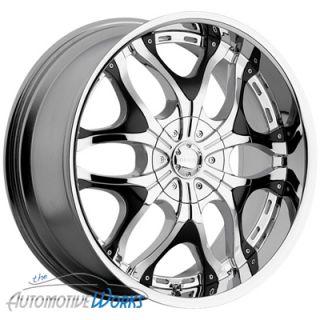 20x7 5 Akuza Creation 5x100 5x114 3 5x4 5 45mm Chrome Wheels Rims inch