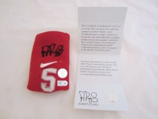 2012 ALBERT PUJOLS SIGNED GAME USED WRIST BAND ANGELS PUJOLS COA and