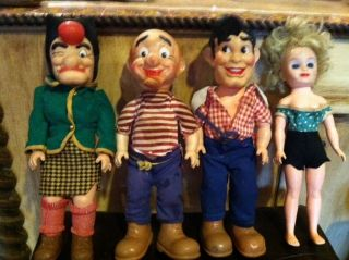Al Capp Lil Abner Vintage 1957 Baby Barry Doll Company set of 4 dolls