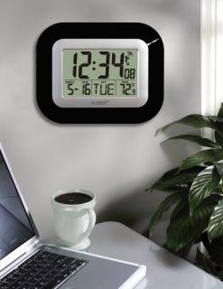 La Crosse Technology Atomic Digital Wall Clock BLACK