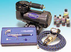 Dual Action Airbrushing Kit Airbrush Compressor