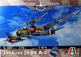 ITALERI 1287 JUNKERS JU 88 A 4 1/72 AIRCRAFT KIT