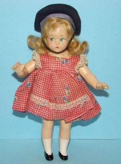 Madame Alexander Tiny Betty Doll in Red Check Dress