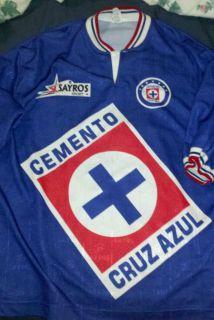 Vintage Cruz Azul Replica Jersey by Sayros Sport Size XL