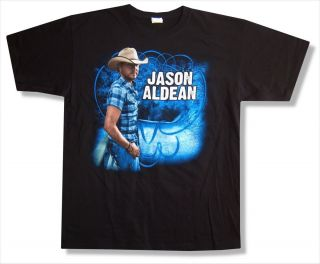 Jason Aldean Plaid Shirt Wide Open Tour 2010 T Shirt New Adult Large