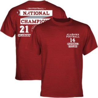 Alabama Crimson Tide 2011 BCS National Champions Score T Shirt Crimson