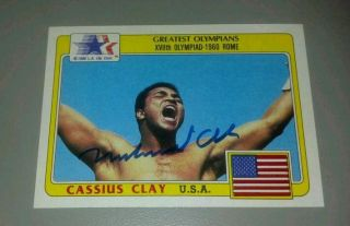 Topps USA Olympians 92 Cassius Clay ROOKIE Muhammad Ali autographed
