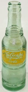 Vintage Nugrape Soda Bottle Painted Label MT Airy