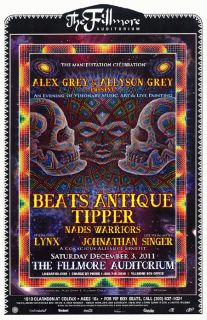 Beats Antique Tipper Alex Grey Denver 2011 Concert Poster Fillmore