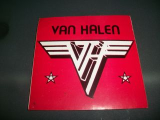 Van Halen Vintage Sticker 1984 29 Years Old Eddie David Lee Roth Alex
