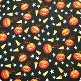 Alexander Henry Pumpkin Candy Corn Halloween Fabric
