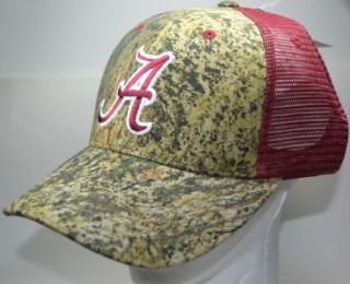 NCAA Alabama Crimson Tide Mossy Oak Camo Snapback Hat Cap New Crimson