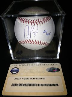 ALBERT PUJOLS SIGNED AUTOGRAPHED BASEBALL LIMITED EDITION STEINER COA