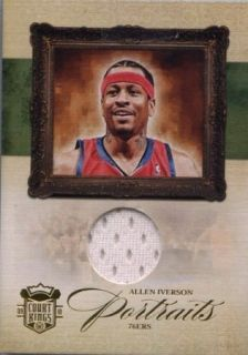 ALLEN IVERSON 2010 COURT KINGS PORTRAITS GAME USED JERSEY 99