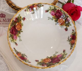 Set of 4 Royal Albert Old Country Roses Cereal Bowls 1st Mark Quality