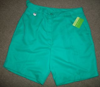 ALLYSON WHITMORE Womens GREEN GOLF SHORTS   Size 10P   NWT