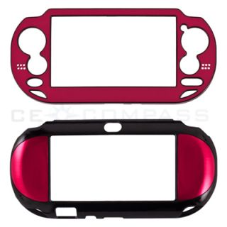 Red Metallic Faceplate Plastic Protective Case Cover for PlayStation