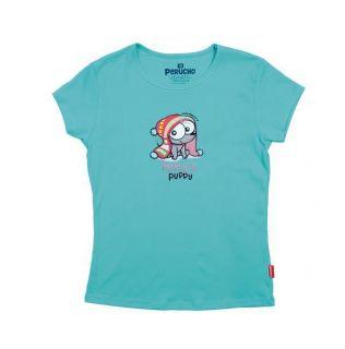 Womens Mujer Peru T Shirt Tee Polo Peruvian Inkas Puppy Cotton Perucho