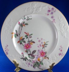 Spode Copeland China Roberta Salad Plate Y6969 Pink Floral Embossed 7