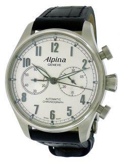 Alpina Aviation Chronograph Silver Automatic Men's Watch Al 860SC4S6