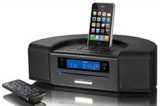TEAC Alarm Clock CD Player AM/FM Radio/Tuner Receiver w/ iPod/iPhone