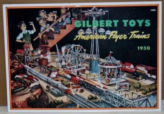 AMERICAN FLYER TRAINS& GILBERT REPRO OF A 1953 SIGN MFG IN THE 90,S