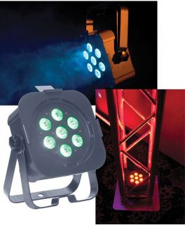 AMERICAN DJ FLAT PAR TRI 7 STAGE LIGHTING 3 WATT 7 LED WASH EFFECT