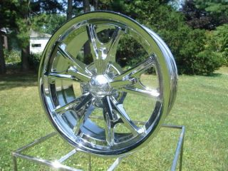 American Racing Daytona 17x7 Chevy Ford Wheel Chrome 17x8 Hot Rod