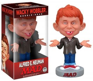 Alfred E Neuman Wacky Wobbler Mad Magazine Bobble Head NIP Funko New