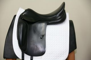 USED AMERIGO DEEP DRESSAGE 18 M BLACK SADDLE