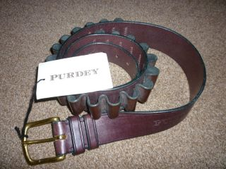 Purdey 20 Guage Leather Shotgun Cartridge Belt XXL Size 40 to 44 Waist