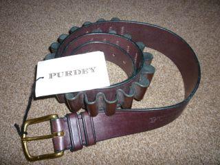 Purdey 20 Guage Leather Shotgun Cartridge Belt XXL Size 40 to 44 Waist