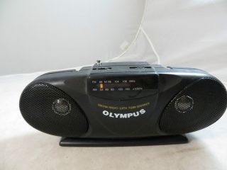 OLYMPUS AM/FM AA BATTERY POWERED RADIO BOOMBOX WITH TWIN SPEAKER
