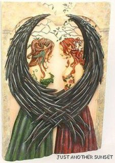 Amy Brown Hanging Wall Plaque Sisters Fairy Faery Friends Room Decor