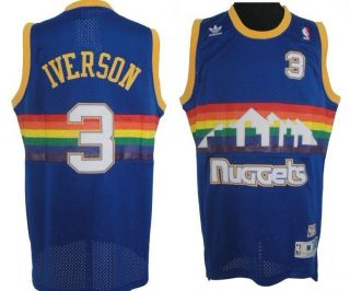 Allen Iverson Denver Nuggets 3 Jersey Size S M L XL XXL Adult Men