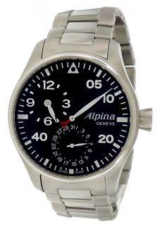 Alpina Aviation Manufacture Regulator Black Automatic Men's Watch Al