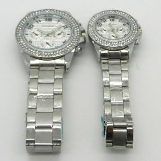 Crystal Rhinestone Decorate Wrist Watch Boy Lady Mens Womens