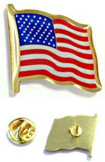 American Flag Lapel Pin Patriotic USA Proud Pinback Quality