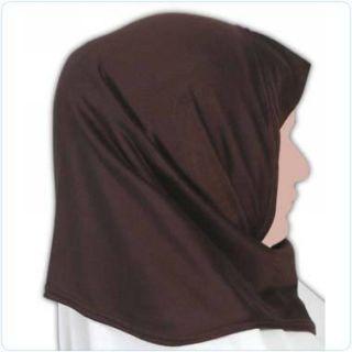 Brown Cotton Amira Hijab Veil Scarf Abaya Jilbab Amirah