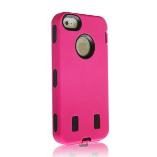 Apple iPhone 5 5g Rubber Impact Tuff Hybrid Heavy Duty Silicone Case