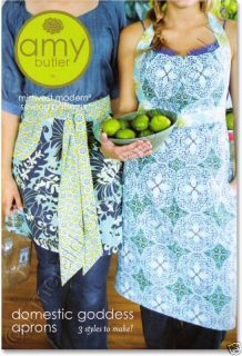 Amy Butler Sewing Pattern Domestic Goddess Aprons 3 Styles 3 Lengths