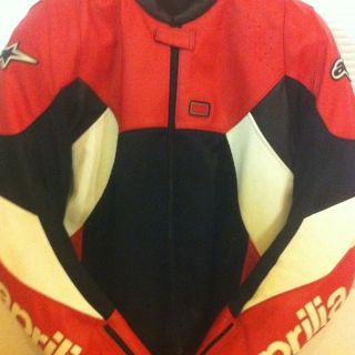 Alpinestars Aprilia Leather Motorcycle Jacket