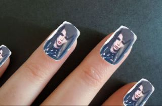 Black Veil Brides Andy Sixx Photo Acrylic Fake False Nail Art Full