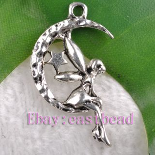 Free SHIP 80pcs Tibetan Silver Angel Charms Pendants EP7452