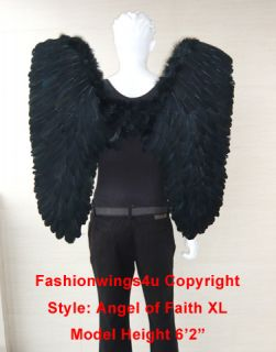 Feather Wings Gothic Demon Fallen Angel Dark Nymph Props