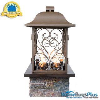 Angelica Portable Gel Fuel Fireplace Indoor Outdoor Patio Brown w