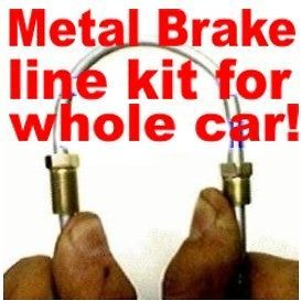 Complete metal brake line kit Dodge MOPAR 1975 to 1993.  change