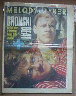 Bronski Beat Toyah John Cale Hipsway Kate Bush page advert 1985 Melody