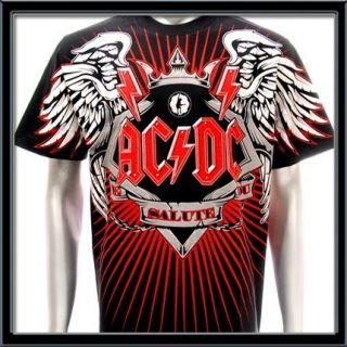 Sz L AC DC T Shirt Angus Young Rock World Tour 1979 Men Rock Heavy