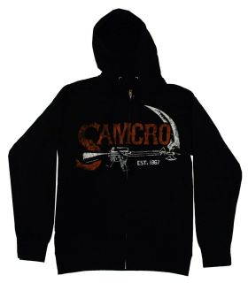 Sons of Anarchy SAMCRO Scythe Reaper Logo TV Show Adult Zip Up Hoodie